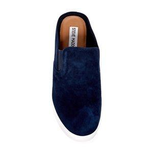 Steve Madden Ezekiel Sneaker Size 8.5 Blue Suede